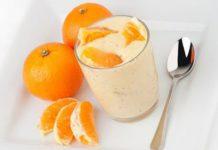 Sữa chua và nước cam tươi