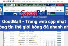 GOODBALL.COM, trang web tìm kiếm thông tin thế giới bóng đá, kq bóng đá, luôn cập nhật liên tục các thông tin về thể thao.